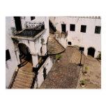 elmina castle courtyard postcard