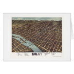 Elmira, NY Panoramic Map - 1873 Greeting Card