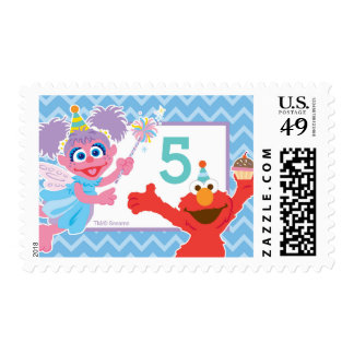 Elmo and Abby Birthday Postage