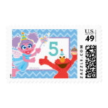 Elmo and Abby Birthday Stamp