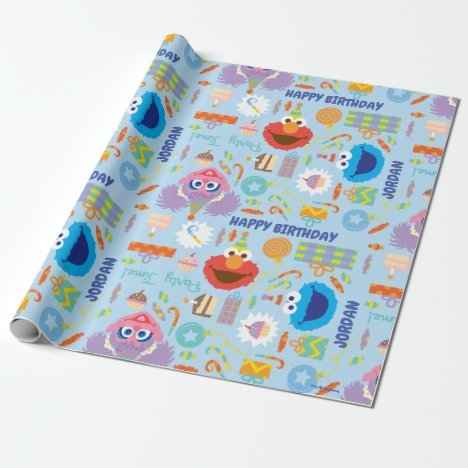 Elmo and Abby Birthday Wrapping Paper
