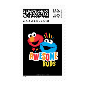 Elmo and Cookie Awesome Buds Postage