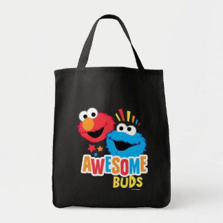 Elmo and Cookie Awesome Buds Tote Bag