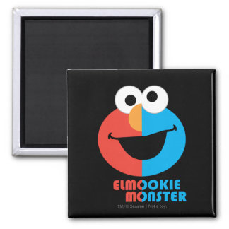 Elmo and Cookie Half Face Magnet