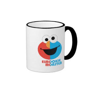 Elmo and Cookie Half Face Ringer Coffee Mug