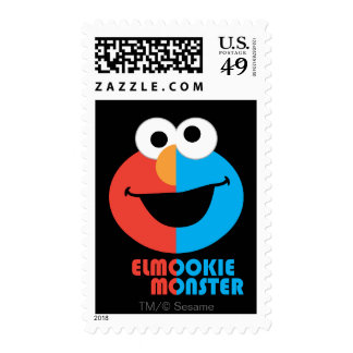 Elmo and Cookie Half Face Postage