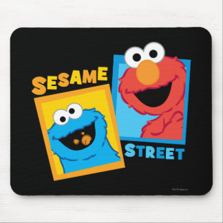 Elmo and Cookie Monster Friends Mouse Pad