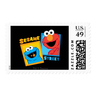 Elmo and Cookie Monster Friends Stamps