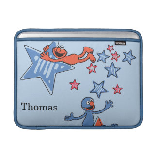 Elmo and Grover Among The Stars | Add Your Name Sleeve For MacBook Air