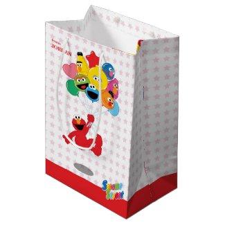 Elmo and Pals Birthday Balloons Medium Gift Bag
