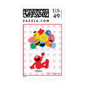 Elmo and Pals Birthday Balloons Postage Stamp