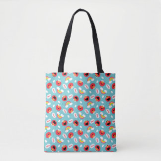 Elmo and Rainbows Pattern Tote Bag