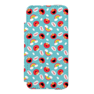 Elmo and Rainbows Pattern Wallet Case For iPhone SE/5/5s