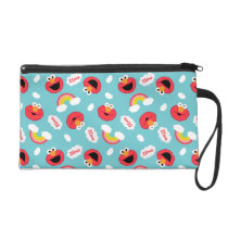 Elmo and Rainbows Pattern Wristlet