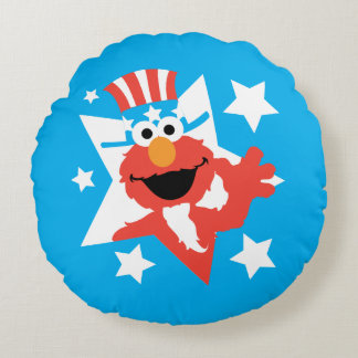 Elmo as Uncle Sam Round Pillow