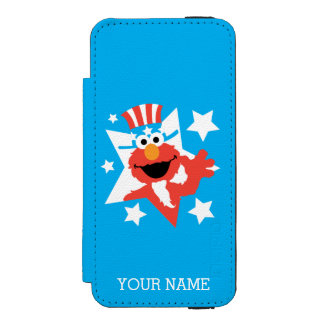 Elmo as Uncle Sam Wallet Case For iPhone SE/5/5s