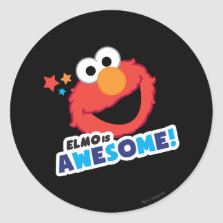 Elmo Awesome Classic Round Sticker