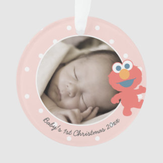 Elmo   Baby's First Christmas - Add Your Name Ornament