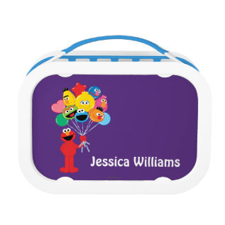 Elmo Balloons | Add Your Name Lunch Box at Zazzle