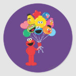 Elmo Balloons Classic Round Sticker