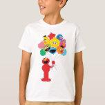 "Elmo Balloons T-Shirt<br><div class=""desc"">Elmo,  Oscar,  Cookie Monster,  Bert,  Ernie,  Big Bird,  and Grover are in balloons ready to fly into the sky!       &#169;  2014 Sesame Workshop. www.sesamestreet.org</div>"