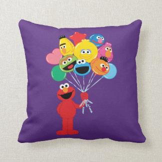 Elmo Balloons Throw Pillow