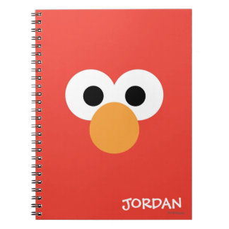 Elmo Big Face   Add Your Name Notebook