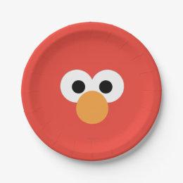 Elmo Big Face Paper Plate