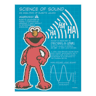 Elmo - ciencia del sonido póster