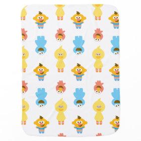 Elmo, Cookie Monster, Bert & Cookie Monster Receiving Blankets