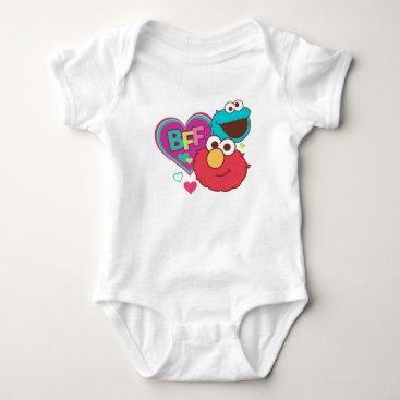 Valentines Themed Elmo & Cookie Monster - BFF Baby Bodysuit