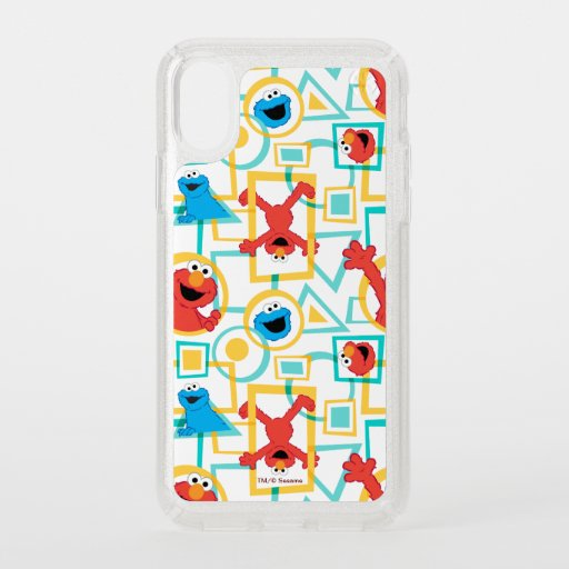 Elmo & Cookie Monster Fun Shapes Pattern Speck iPhone X Case