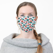 Elmo & Cookie Monster | Peace & Love Pattern 2 Adult Cloth Face Mask