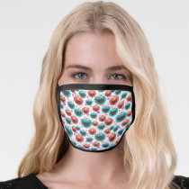Elmo & Cookie Monster | Peace & Love Pattern 2 Face Mask