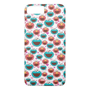 Elmo & Cookie Monster | Peace & Love Pattern iPhone 8 Plus/7 Plus Case