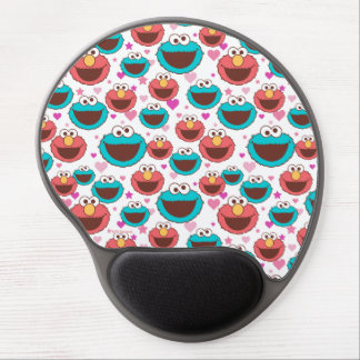 Elmo & Cookie Monster   Peace & Love Pattern Gel Mouse Pad