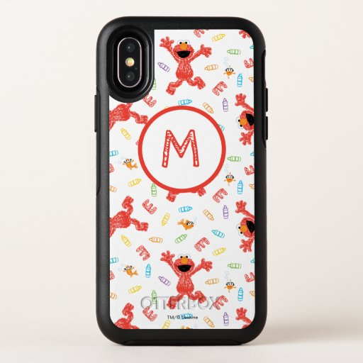Elmo Crayon Pattern OtterBox Symmetry iPhone X Case