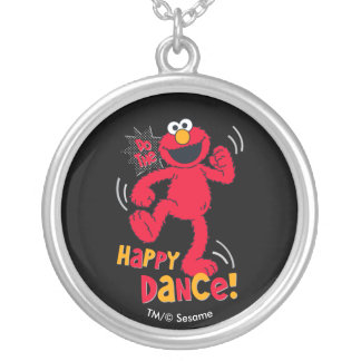 Elmo   Do the Happy Dance Silver Plated Necklace