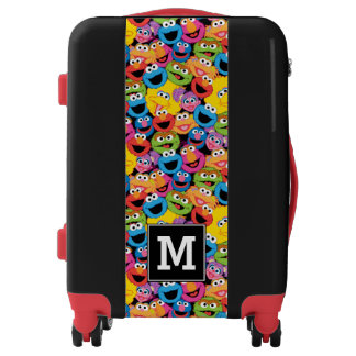 Elmo Emoji Pattern | Monogram Luggage