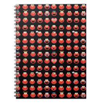 Elmo Emoji Pattern Spiral Notebook