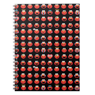 Elmo Emoji Pattern Spiral Notebook