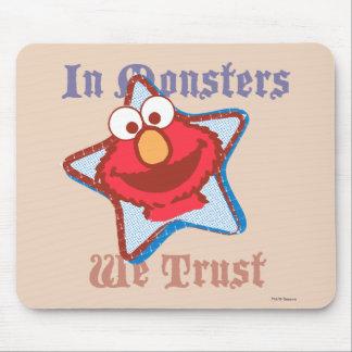 Elmo - en monstruos confiamos en mouse pads