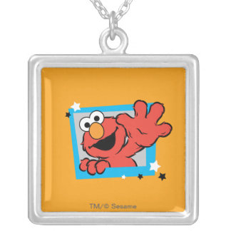 Elmo Extreme Pose 2 Silver Plated Necklace