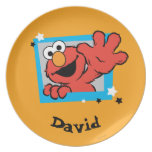 Elmo Extreme Pose | Add Your Name Dinner Plate