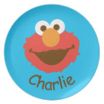 Elmo Face | Add Your Name Dinner Plate
