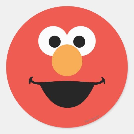 Elmo Face Art Classic Round Sticker | Zazzle.com