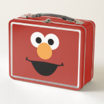 """Elmo Face Art Metal Lunch Box<br><div class=""""desc"""">Whose face is this? Why it?s Elmo&#39;s face art!        This item is recommended for ages 2 . &#169;  2014 Sesame Workshop. www.sesamestreet.org</div>"""