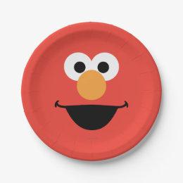 Elmo Face Art Paper Plate