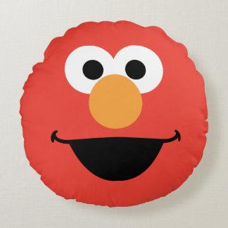 Elmo Face Art Round Pillow