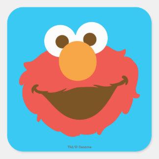 Elmo Face Square Sticker